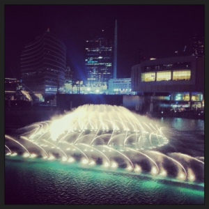 Fountains downtown Dubai