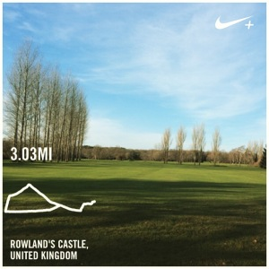 Christmas Day run Rowlands Castle