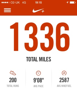 My 200th run completed