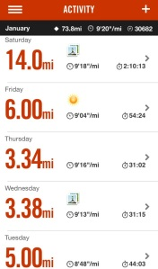 Week 4 of Paris Marathon training