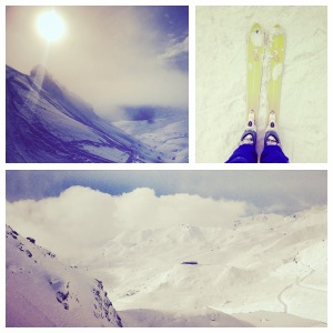 Swapping the running shoes for skis