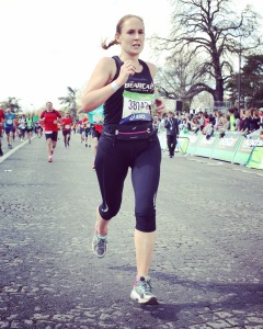 Sarah Mayo at Paris Marathon 2016