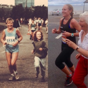 Edinbugh Marathon with mum